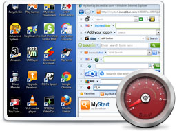 A typical PC, cluttered, slow, and infested with crapware