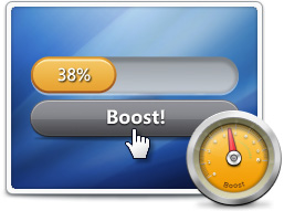 Boost runs and cleans up your PC with one click in just a few seconds