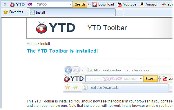YTD Toolbar
