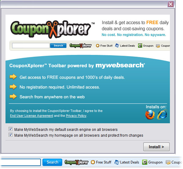 CouponXplorer Toolbar