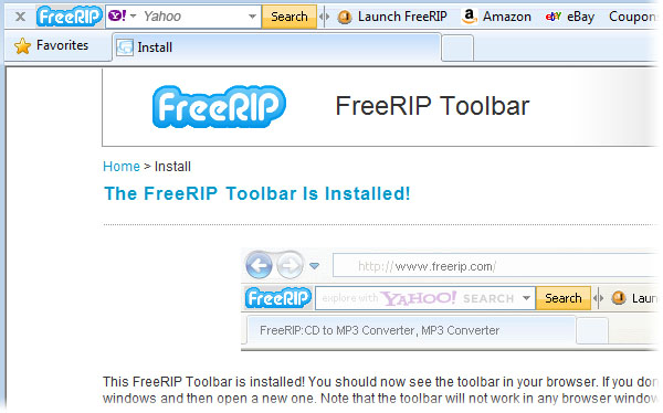 FreeRIP Toolbar