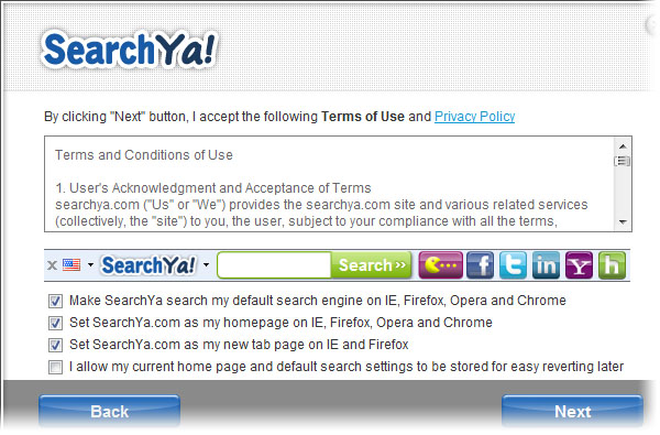 SearchYa! Web Search