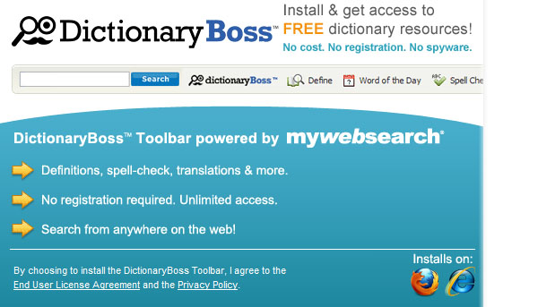 DictionaryBoss Toolbar