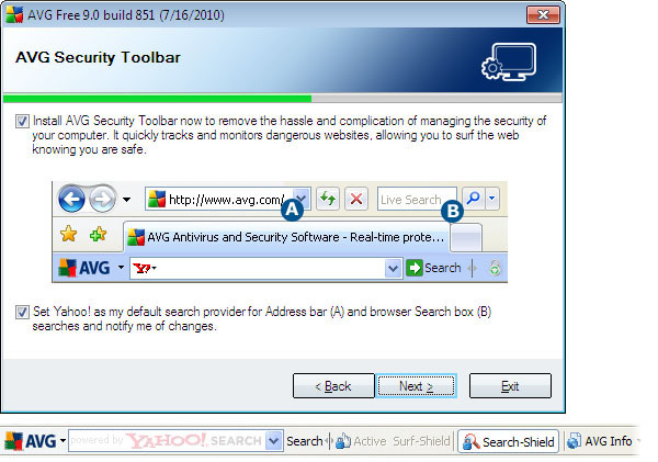 AVG Security Toolbar