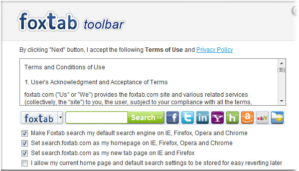 Foxtab Toolbar